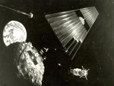 This artist&#39;s concept from 1978 shows an<br /> asteroid retrieval mission. (NASA)<br /> <a href='http://www.nasa.gov/topics/history/features/asteroid2.html' class='bbc_url' title='External link' rel='nofollow external'>View larger image</a>