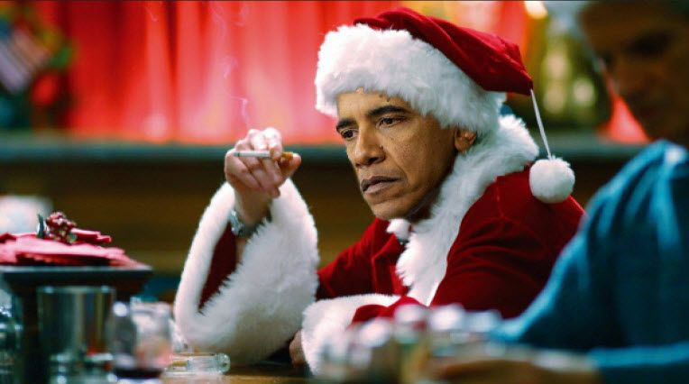 Obama Santa Claus Bad Santa