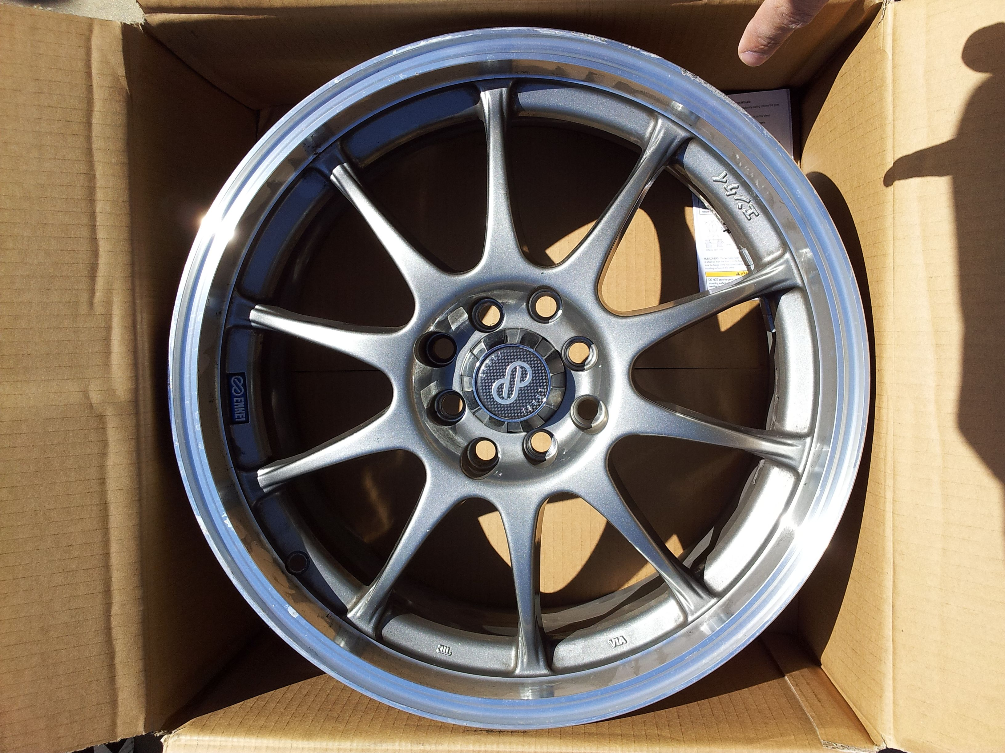 The Car Shack >> FS Socal: 4 Silver Enkei J10 17x7 +42 4x100 and 4 205/40/17 - Unofficial Honda FIT Forums